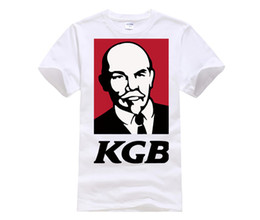 963320bb6 designer t shirt KK CCCP KFC LENIN KGB FUNNY short sleeve T-shirt Top Lycra  Cotton Men T shirt New DIY Style