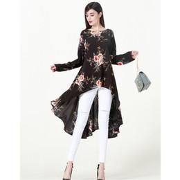 5be3d87a7131 Zmvkgsoa Floral Print Women Blouses Plus Size 5xl 6xl Long Sleeve Irregular  Kaftan Casual Shirt Womens Tops And Blouse Y2328