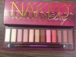 Venta al por mayor de 2018 Cherry Eyeshadow Palette marca sombra de ojos paleta nude 12 colores Eyeshadow Palettes Maquillaje Sombra de ojos Cherry Palette Matte Shimmer