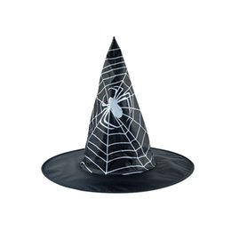 Halloween Costume Football UK - Adult Womens Black Witch Hat For Halloween Costume Accessory Cap Hat For Halloween Party