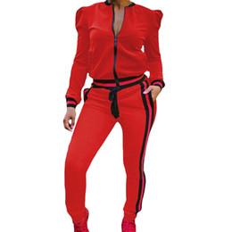 China 2 Piece Set Women Track Suit Tops+Long Pants Two-piece Lantern Sleeve Russia Style Leisure Set Pants Casual Sets cheap women casual dress suit set suppliers