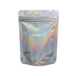 Chinese  Stand Up Glittery Surface Zip Lock Stand Up Pouch 8.5x13cm Resealable Zipper Top Mylar Foil Bag for Sugar Powder Smell Proof Storage Bag manufacturers