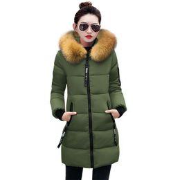 dc3ac18d25c2 Fake Fur 2018 Winter Jacket Women Plus Size Women Parkas Thicken Outerwear  hooded Winter Coat Long Down Jacket Female basic tops S18101503
