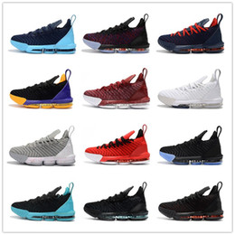 Discount sample shoes men - 2018 New Arrival LeBron 16 Sample Black White Red Mens Basketball Shoes for Good quality Men Athletic J16s Sports Sneake