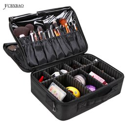 Big Storage Boxes UK - YCBXBAO Hot Beautician Bag Hand bags Compact Cosmetic Bag Big professional Makeup Box Case Large Makeup Bags Storage Suitcases