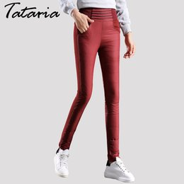 down trousers NZ - Womens White Down Pants Winter High Waist Pantalon Femme Thick Warm Pant For Woman Black Trousers Women Pants Mujer Tataria