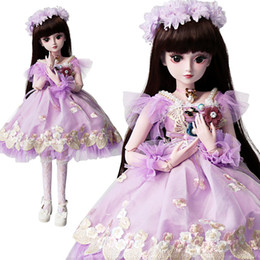 $enCountryForm.capitalKeyWord Australia - UCanaan 1 3 BJD Doll Girls SD Dolls 19 Ball Jointed With Full Outfits Brown Eyes Eyelash Kids Toys Chileren Gifts Collection