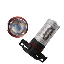 Projector H4 H7 UK - H16 P13W 80W Super White LED Headlight bulb car LED Fog Lights 6000K Projector Driving Bulb PS24W Lamp