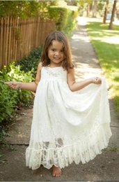 cheap dresses for first communion 2019 - Ivory Lace Flower Girl Dresses A Line Simple Lovely Little Girls First Commission Dresses for Dinner Party Gowns Custom