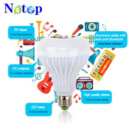 $enCountryForm.capitalKeyWord Australia - Netop E27 Smart RGB Wireless Bluetooth Speaker Bulb Music Playing Dimmable 12W LED Bulb Light Lamp with Remote Control + In Stock