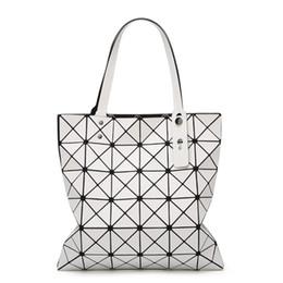 $enCountryForm.capitalKeyWord Canada - Handbag Female Folded Ladies Geometric Plaid Bag Fashion Casual Tote Women Handbag Mochila Shoulder Bag Bao