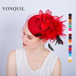 NEW ARRIVAL multicolors kentucky imitation sinamay fascinators with feather  derby Occasion church hats bridal wedding party hat 2dd4e6ed07ae