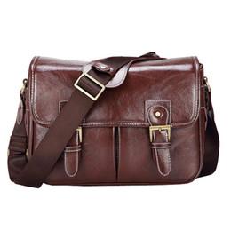 Dslr Cameras Bags Australia - Camera Luxury Stylish Fashion Retro PU Leather Case Handbag Waterproof Shoulder Messenger DSLR Bag for Canon Nikon Sony XL