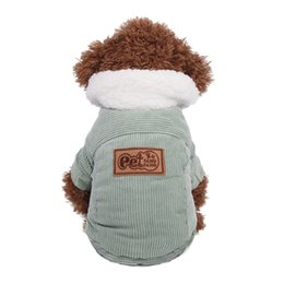 $enCountryForm.capitalKeyWord UK - Dog cotton corduroy jacket thickened autumn and winter Teddy coat pet clothes dog clothes