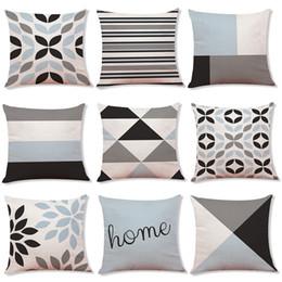 Geometric pillow case cover online shopping - 9 Styles Christmas Geometric Pillow Case For Sofa Car Cushion letter print Pillow Cover Pillowslip Bedding cm C5501
