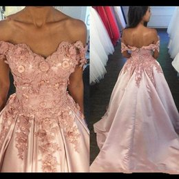 $enCountryForm.capitalKeyWord NZ - New Blush Pink Evening Ball Gowns Exquisite Appliques Prom Maxi Dress Girl Graduation Pageant Quinceanera Dresses High Quality Custom Made
