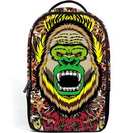 Chinese  Gorilla backpack Forest roar daypack Orangutan howl schoolbag Cool animal rucksack Sport school bag Outdoor day pack manufacturers