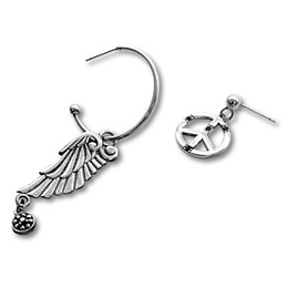 $enCountryForm.capitalKeyWord UK - New Arrival Exquisite Silver Jewelry For Female Swarovski Gems Elegant Angel Wing Airplane Annulus Pendant Earrings
