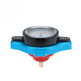fuel cap wholesalers Australia - Universal Car Motorcycle Water Tank Thermostatic Radiator Cap Cover With Temperature Gauge Meter Accessories 0.9 1.1 1.3