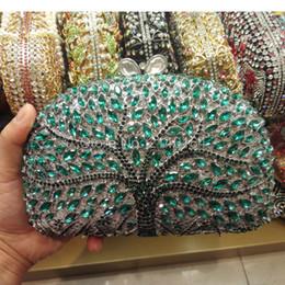 $enCountryForm.capitalKeyWord Australia - Luxury Crystal clutch Women Branch pattern Bag Evening bag Handbag For Party Prom box Day clutches
