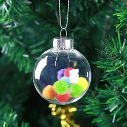 Clear Balls Australia - 6CM 8CM Christmas Decorations Ball Transparent Can Open Plastic Christmas Clear Bauble Ornament Gift Present F20173919