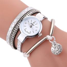 $enCountryForm.capitalKeyWord Australia - Duoya Brand Watches For Women Fashion Simple Silver Beads Charm Bracelet Quartz Watch Luxury Key Pendant Dress Woman Clock Watch
