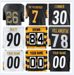 2018 Pittsburgh Antonio Brown Steeler jersey Ben Roethlisberger Jerome  Bettis american football jerseys elite game mens shirts factory youth 9f1a860c6