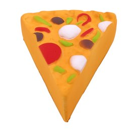 Chinese  2018 Squishy Pizza Squeeze Slow Rising Simulation Pizza Relieve Stress Soft Home Decoration Phone Charms Key Chain Kid Toy Gift DHL Free manufacturers