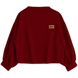 ae5b069424a 2018 New Autumn Hoodies Women Casual Long Sleeve Pullover Tops Female  Batwing Sleeve Sweatshirt Crop Top