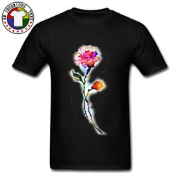 art flower watercolor UK - Watercolor Flower Art Red Rose T Shirt Natural Cotton Fabric Round Neck Men Tops Tees Birthday T Shirts Cheap Nice T-Shirt