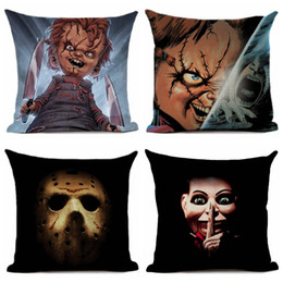 movie pillow cases NZ - Pillow Case Horror Movie Printed Printed Pillow Cover Car Sofa Decorative Pillowcase Decoration 45x45cm for Sofa Couch