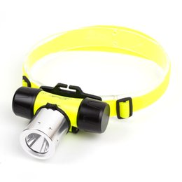 Discount cree outdoor lighting - Diving lights scuba divers Portable 10m Waterproof Head light CREE T6 LED AAA 18650 Diving Swimming LED Headlamp Fish Ca