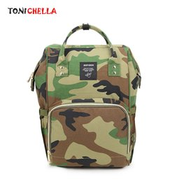 Wholesale Baby Diaper Bag Organizer Large Capacity Mummy Travel Camouflage Backpack Nursing Wet Bag Waterproof Nappy Changing Bags CL5447