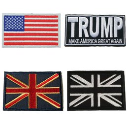 Wholesale Embroidered Patches Flag Sewing Iron On National USA UK Badge For Bag Jeans Hat Appliques DIY Sticker Decoration Apparel Accessories