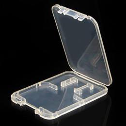 Venta al por mayor de 1000 unids / lote 2 en 1 Estuche de plástico para caja de embalaje de tarjeta Micro SD TF Caja de tarjeta Micro SD Caja de protector de tarjeta TF