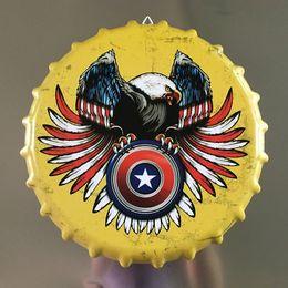 "$enCountryForm.capitalKeyWord Australia - Tin Sign ""eagle"" Vintage Metal Painting Beer Cover Cafe Bar Hanging Ornaments Wallpaper Decor Plates 35X35 CM"