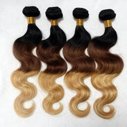 Pretty brazilian human hair online shopping - Pretty Coco A Brazilian Body Wave Human Hair Weaves b Ombre Color Remy Hair Extensions Soft No Shedding No Tangle