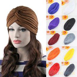 $enCountryForm.capitalKeyWord Australia - Hot Fashion Unisex Latest Style Stretchable Turban Hat Hair Head Wrap Cap Headwrap NJ8 7ENI