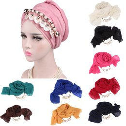 $enCountryForm.capitalKeyWord Australia - new Women Silk Floral Print Muslim Hat Stretch Retro Turban Hat Head Scarf Wrap Retro Muslim Cancer Chemo Cover