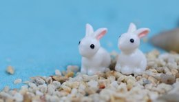Wholesale Creative Cartoon Moss Micro Landscape Ornaments Small Ears Mini Animal Quiet Resin Rabbit Gardening Handicraft Decoration Accessories
