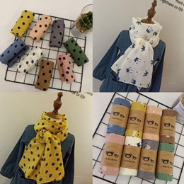 Dotted Cotton Scarves Australia - New autumn and winter cotton print little dot children's scarf women and women baby scarf fashion match fashion