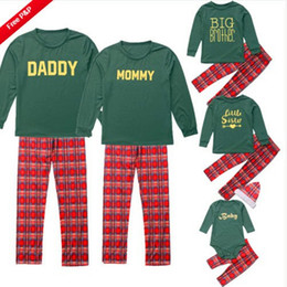Suit Snowflake online shopping - Family Matching Outfit Leisure Wear Printed Letter Canta Claus Snowflake White Striped Long Sleeve Plaid Pants Circular Collar Family Suit