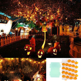 3m 10ft 40 leds aa battery operated led string led copper wire string fairy light outdoor party halloween pumpkin ghost skull lights decor
