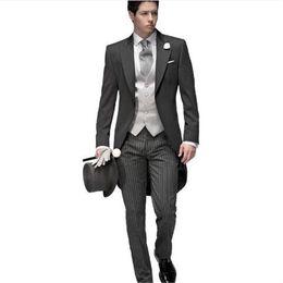 $enCountryForm.capitalKeyWord NZ - Grey Trajes De Hombre Wedding Suits For Men 3Pieces(Jacket+Pant+Vest+Tie) Tuxedo Terno Masculino Costume Homme Anzug Herren