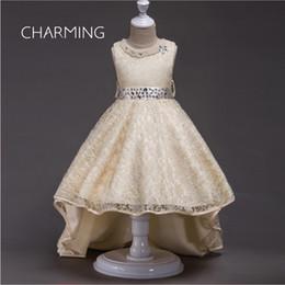 $enCountryForm.capitalKeyWord NZ - Dress kids girl Lace wedding dress High low prom dresses Beaded prom dresses Children's performance clothing New model girl dress