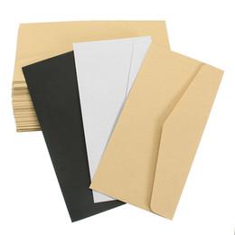 Paper Gift Envelopes UK - Kicute 50Pcs Classical Window Envelopes Solid White Kraft Blank Mini Paper for Wedding Invitation Envelope Gift Envelope 22*11cm