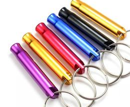 $enCountryForm.capitalKeyWord NZ - 2018 Hot Sale Mini Aluminum Whistle Dogs Whistle For Training With Keychain Key Ring Free Shipping 4000pcs