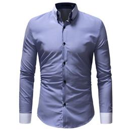 324895363f0 Dress shirt 2018 Fashion Brand Striped Mens Shirts Long Sleeve Casual Shirt  For Men Slim Fit Male Social Business Men s shirts