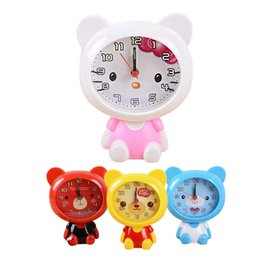 Round desk clocks online shopping - New Cartoon Despertador Home Outdoor Portable Cute Mini Bear Digital Clock Number saat Round Desk Alarm Clock Children