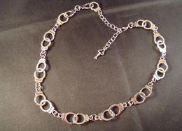 Discount fashion bracelet handcuffs - Wholesale- Freedom Handcuffs & Key Bracelet Jewelry 20pcs Fashion Vintage Silver Charms Protection Spiritual Bracelets&B